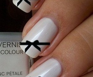 nails, white, and bow image