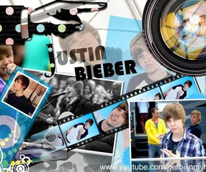 blue, justin bieber, and ipod image