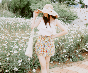 asian, korean fashion, and flower image