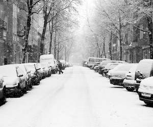 cars, germany, and snow image
