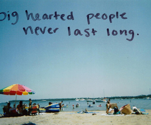 quotes, text, and beach image