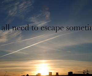 escape, typography, and love image