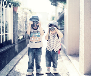 cute, kids, and camera image