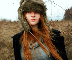 girl, hat, and red hair image