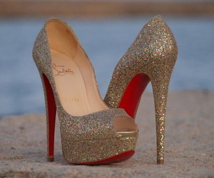 glitters, red, and heels image