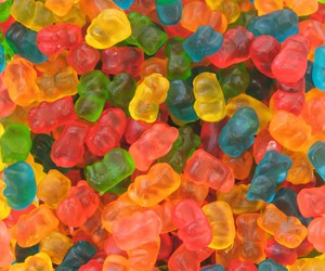 blue, green, and gummy bears image