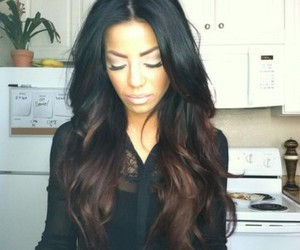 hair, ombre, and brunette image