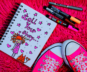 pink, cute, and notebook image