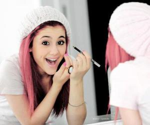 ariana grande, smile, and red hair image