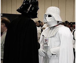cosplay, darth vader, and fight image