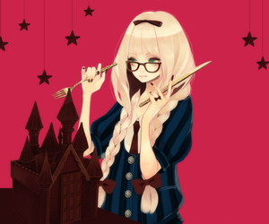 cute, anime, and chocolate image