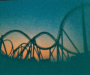 Roller Coaster, vintage, and rollercoaster image