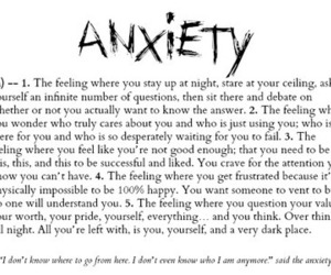 anxiety, quotes, and sad image