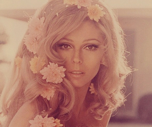 flowers, nancy sinatra, and vintage image