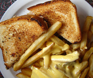food, toast, and cheese image