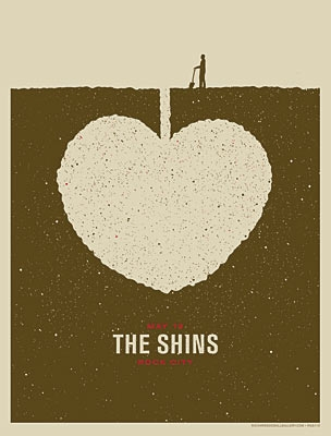 poster, music, and the shins image