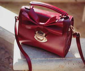 bag, fashion, and red image