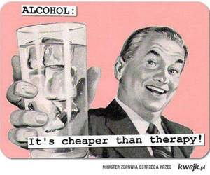 alcohol, therapy, and quote image