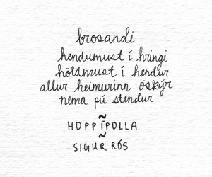 hoppipolla, quote, and sigur ros image