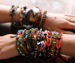 bracelet, hippie, and boho image
