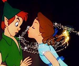 peter pan, disney, and kiss image