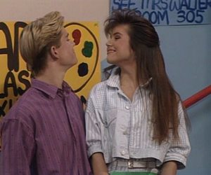 saved by the bell, kelly kapowski, and zack morris image