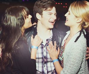 lea michele, dianna agron, and chris colfer image