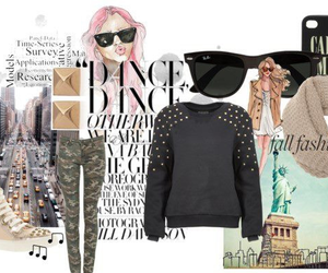 Collage, love, and fashion image