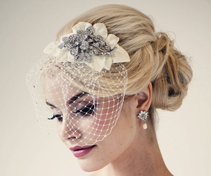 bridal, snow, and winter image