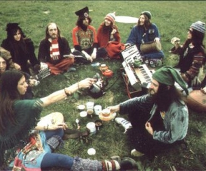 group, hippies, and music image