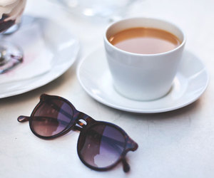 sunglasses, coffee, and photography image