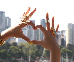 heart, rings, and city image