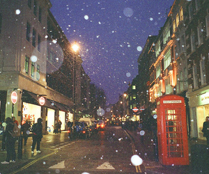 london, snow, and city image