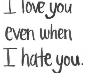 love, hate, and quote image