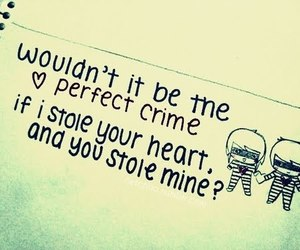 love, heart, and crime image