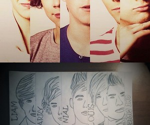 boys, 1d, and drawing one direction image