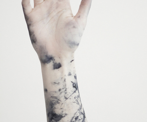 hand, tattoo, and white image