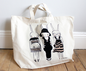 bag, bunny, and cartoon image