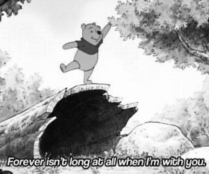 winnie the pooh, forever, and quote image