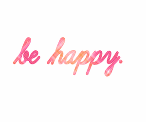 happy, be happy, and pink image
