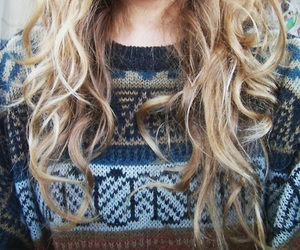 sweater, hair, and fashion image