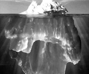 iceberg, ice, and blue image