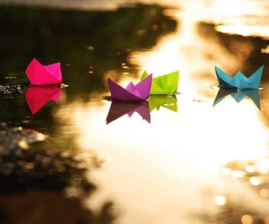girl, cute, and origami image
