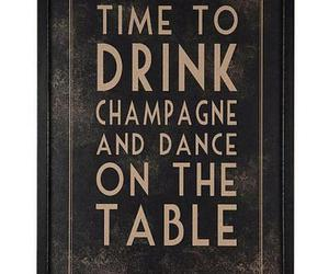 drink, champagne, and dance image
