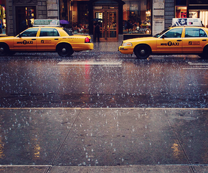 taxi, new york, and city image