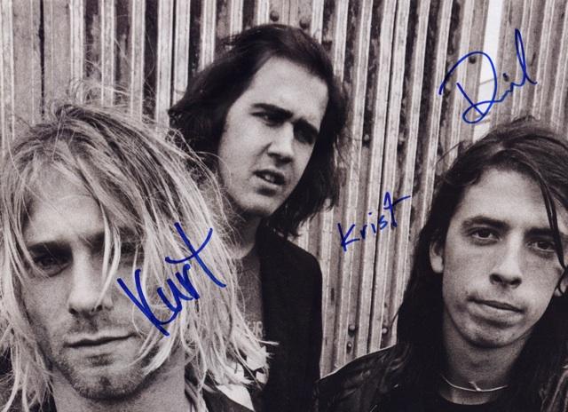 Nirvana Nevermind Signed Autographed A4 Photo Print Poster Kurt Cobain Shirt 004