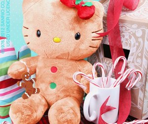 hello kitty and christmas image