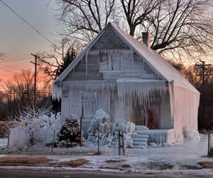frost, frozen, and house image