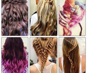 hair, girl, and colors image