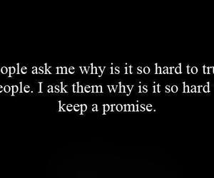 quotes, promise, and trust image